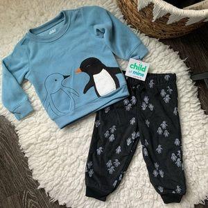 CARTER'S   Fleece sweater & pants set